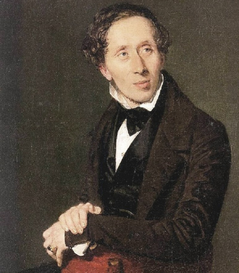 A Portrait of Hans Christian Andersen by Constantin Hansen, 1836