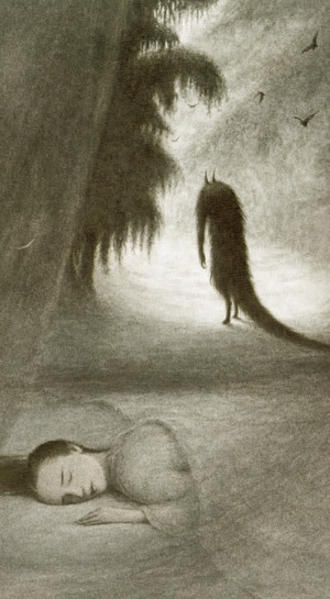 A detail from Beauty and the Beast by Angela Barrett