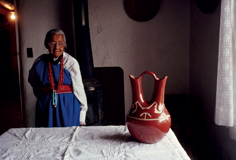 Santa Clara Pueblo potter Margaret Tafoya, New Mexico, 1991, by David Alan Harvey