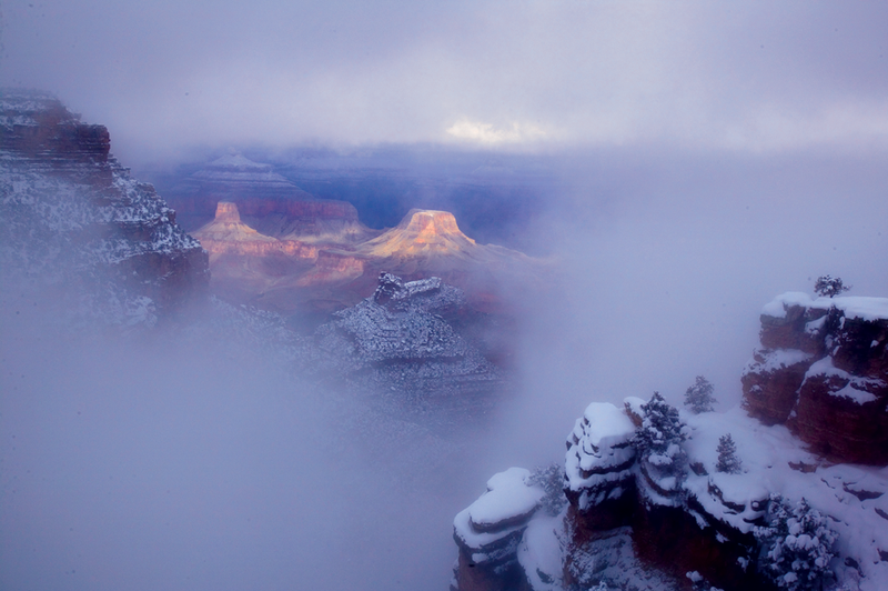 Grand Canyon, northern Arizona, in winter, by   Michael Nichols