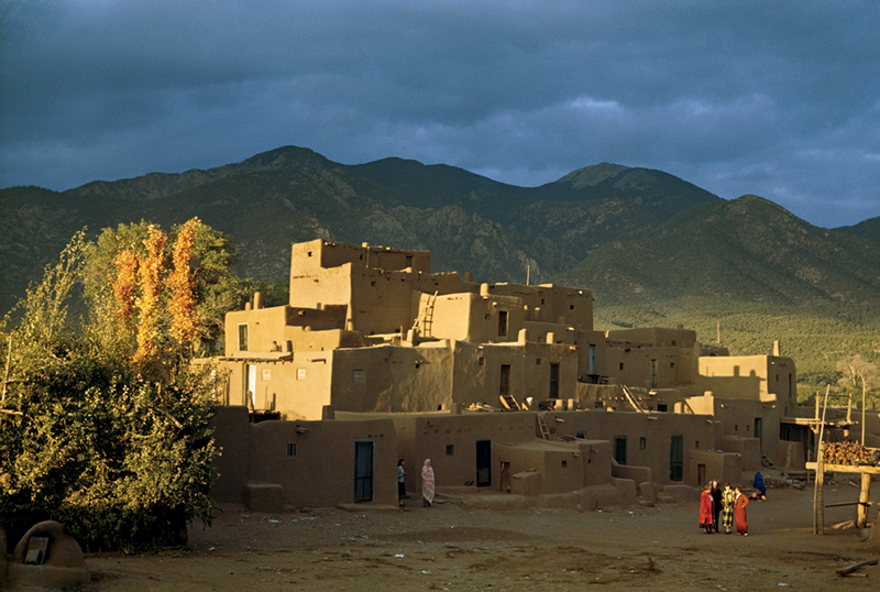 Taos Pueblo, New Mexico, 1949, by Justin Locke