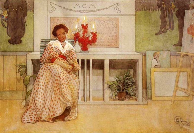 Saint Lucia's Day by Carl Larsson