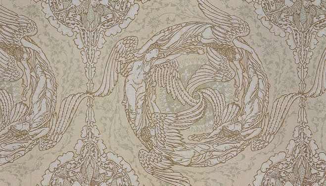 Four Winds (textile design) by Walter Crane