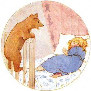 Goldilocks and Baby Bear by Margaret Tarrant