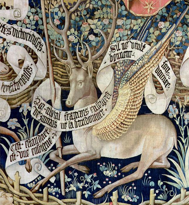 Winged Dear Tapestry