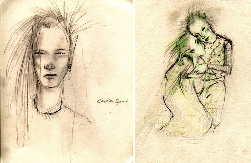 Desert spirit sketches by T Windling