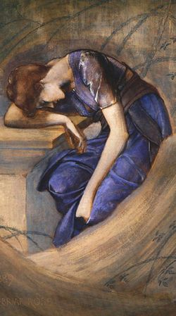 A study for the Briar Rose series by Sir Edward Burne-Jones