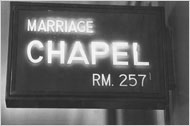 NYC Marriage Chapel sign