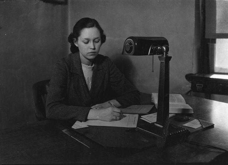Woman Writing by Louis Edward Nollau