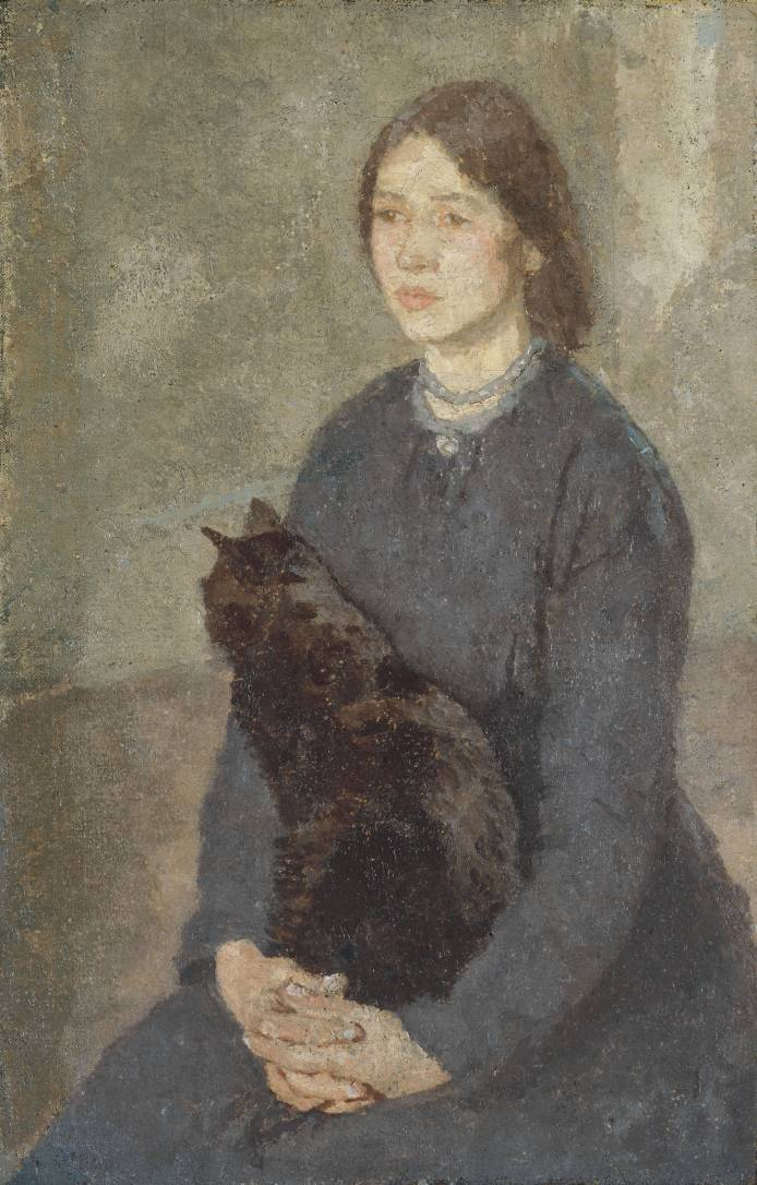 Young Woman With Black Cat by Gwen John