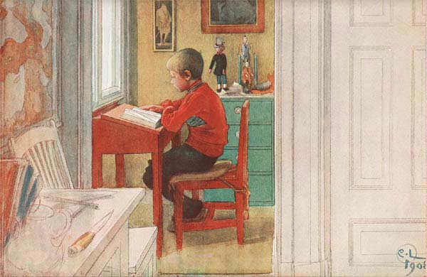 Reading at the Desk by Carl Larsson
