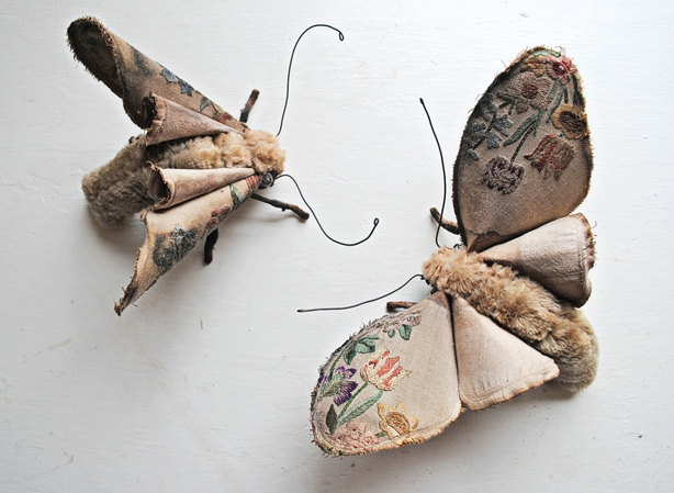 Textile Mothes in Courtship Dance by Mr Finch