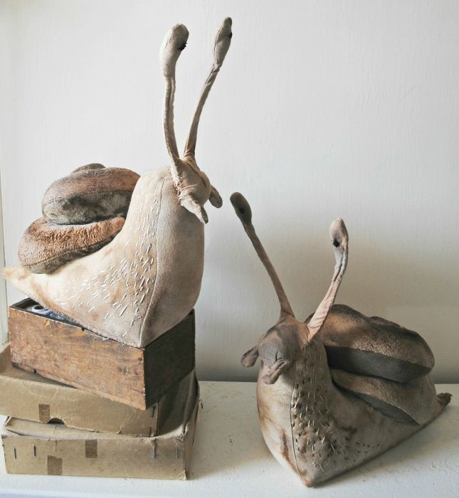 Soft Sculpture Snails by Mr Finch