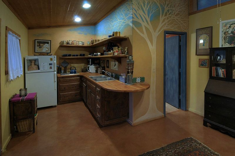 Desert sycamore tree mural in the Bunk House