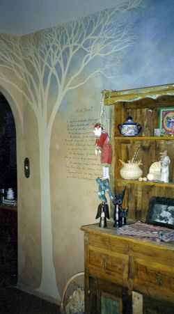 Benjamine Aliere Sanez's poem ''To Desert'' written on the wall of the Main House kitchen
