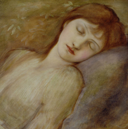 A study for the Briar Rose series 3 by Sir Edward Burne-Jones