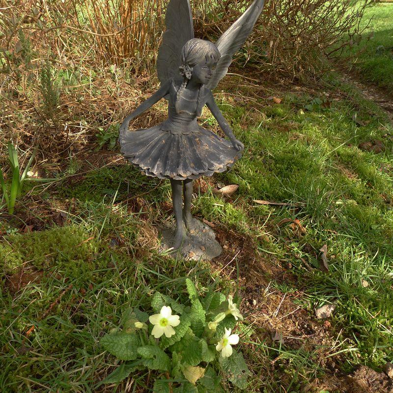 Fairy and primroses