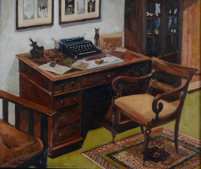 Arthur Ransome's Desk by John Fisher