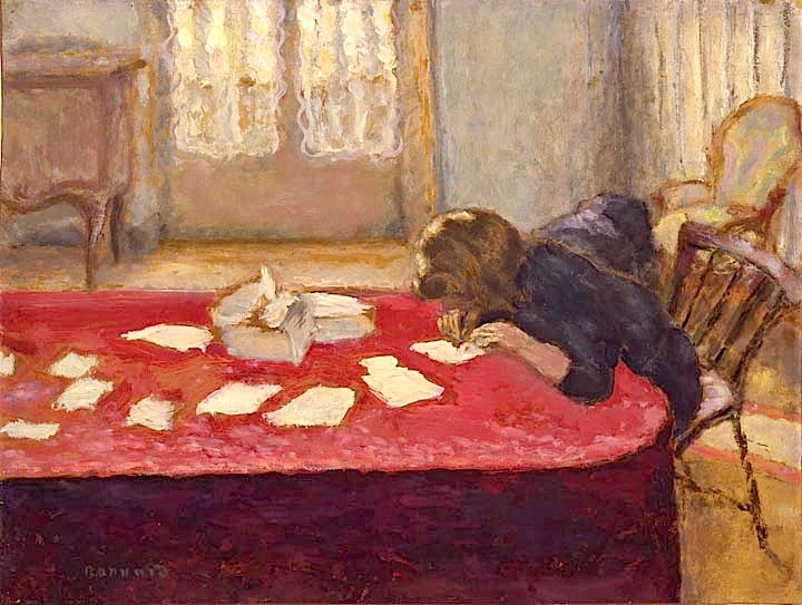 Young Woman Writing by Pierre Bonnard