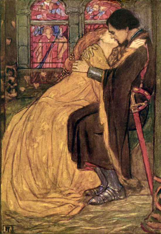 An illustration for Tennyson's Guinevere by Florence Harison