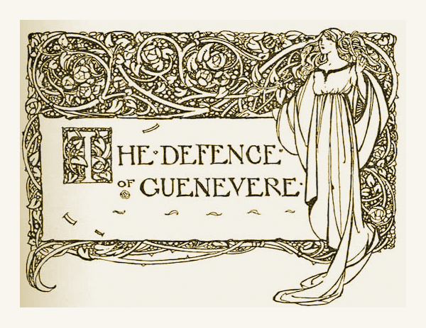 An illustration for William Morris' The Defence of Guenevere by Florence Harrison