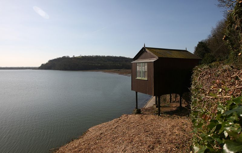 Dylan Thomas' Boathouse in Laughame, Wales