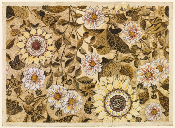 ''Sunflower,'' a 19th century wallpaper design by Bruce James Talbert