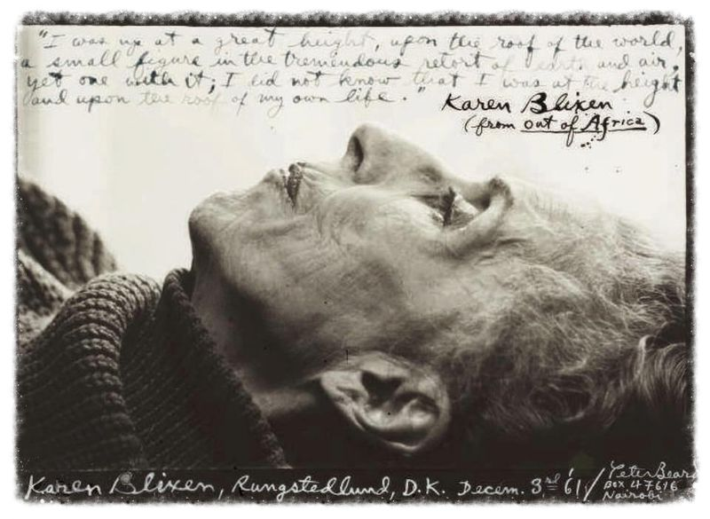 Isak Dinesen photographed by Peter Beard