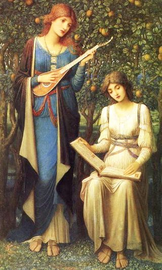 When Apples Were Golden and Songs Were Sweet by John Melhuish Strudwick