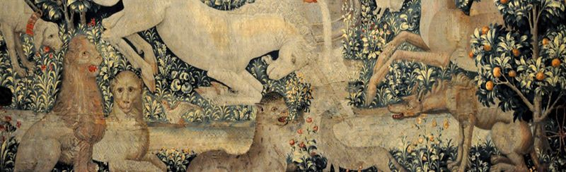 A detail from the Unicorn Tapestries