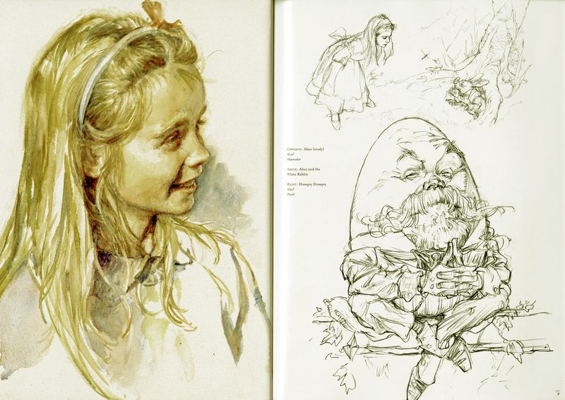 Alice illustrations by Iain McCaig