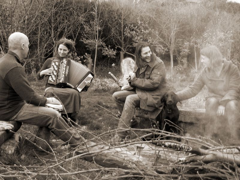 Around the bonfire in Jason & Ruth's field