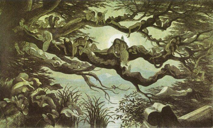 Aleep in the Moonlight by Richard Doyle