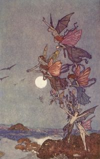 Elves and Fairies from The Tempest by Edmund Dulac