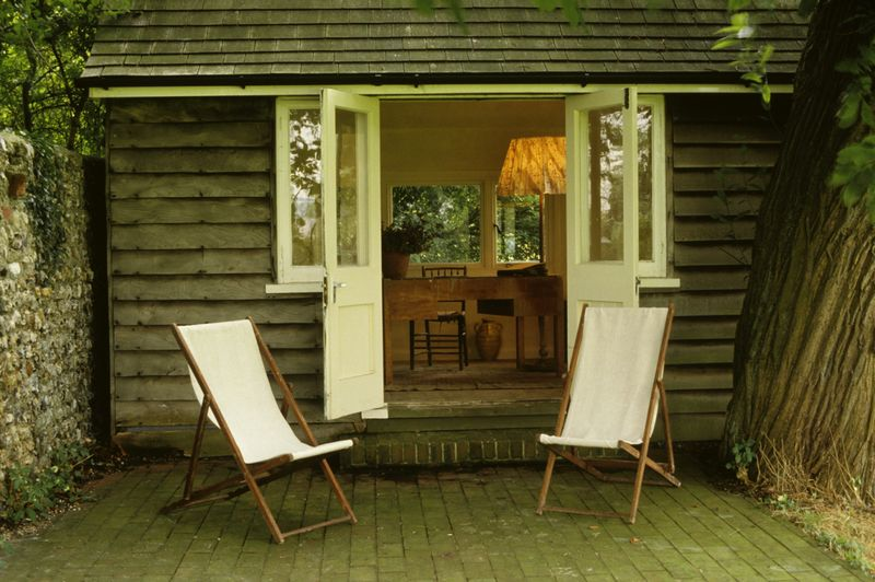 Virginia Woolf's writing shed at Monks House in Sussex