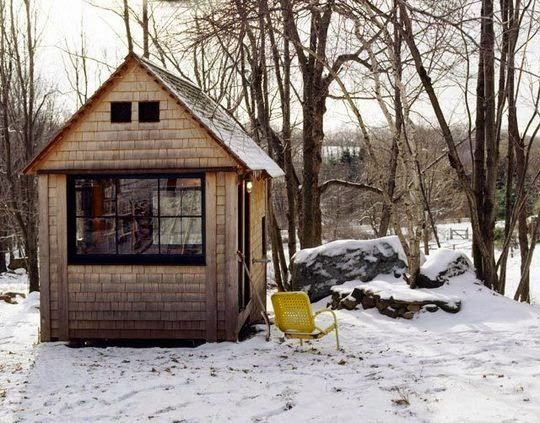 Michael Pollan's writing cabin