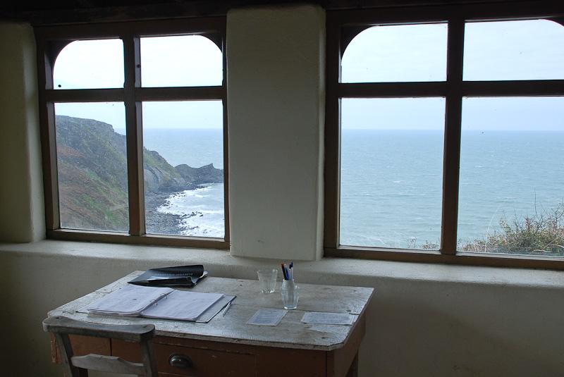 Inside Robert Duncan's writing hut