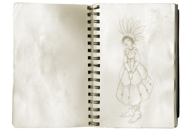Sunflower child sketch by T Windling