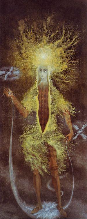 Personaje Astral by Remedios Varo