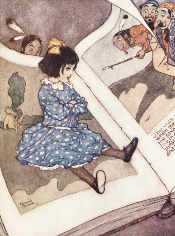 Little Girl in a Book by Edmund Dulac