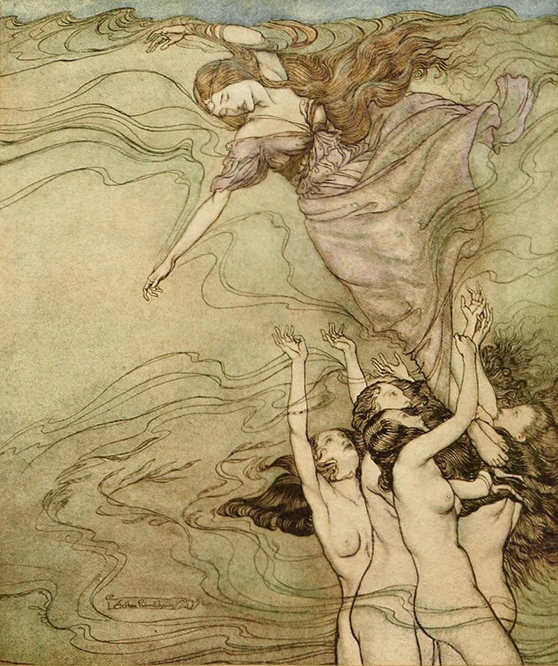 Water Nymphs by Arthur Rackham