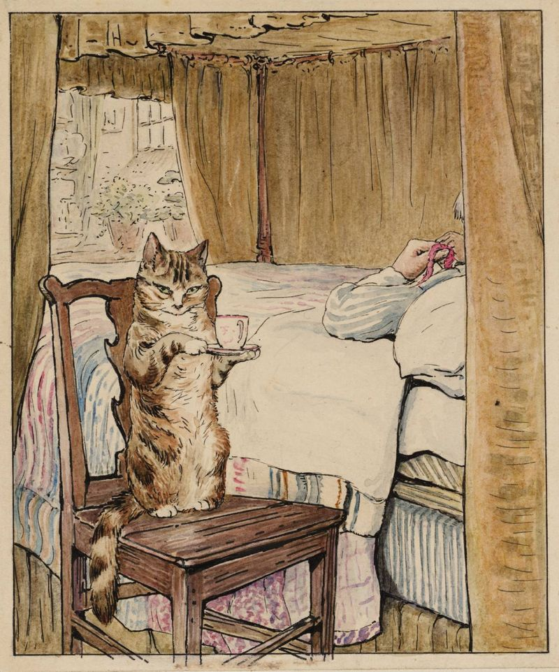 Simpkins at the Tailor's Bedside by Beatrix Potter