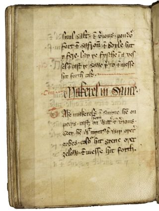 The oldest surviving English cookbook