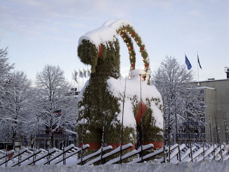 Yule Goat in Gefle, Sweden, 2009