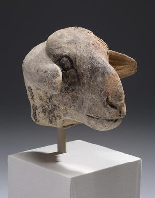 Head of a Ewe, Sumerian, Protoliterate period (c 3500–3000 BC)