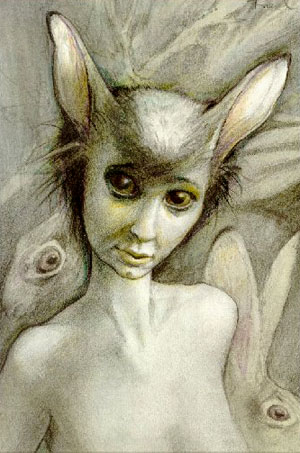 Thumper (from my novel The Wood Wife) by Brian Froud