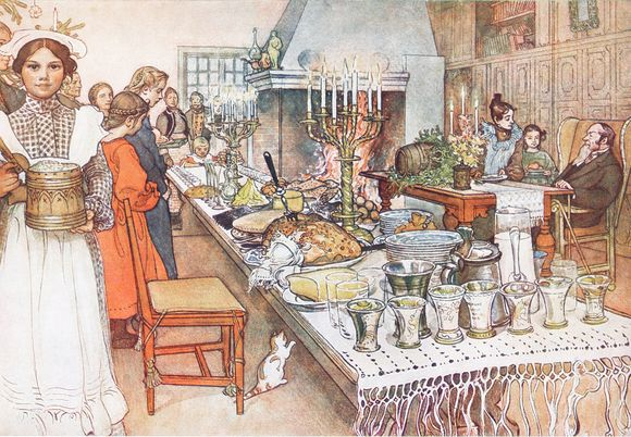 Christmas Feast by Carl Larsson