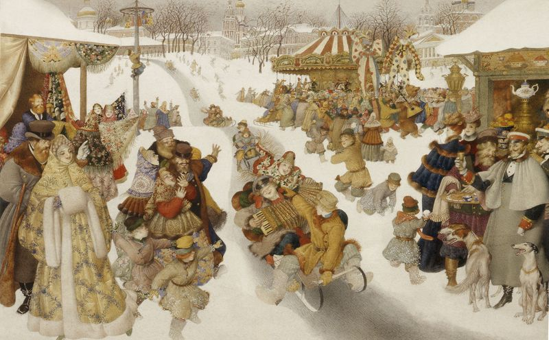 Russian Winter by Gennady Spirin