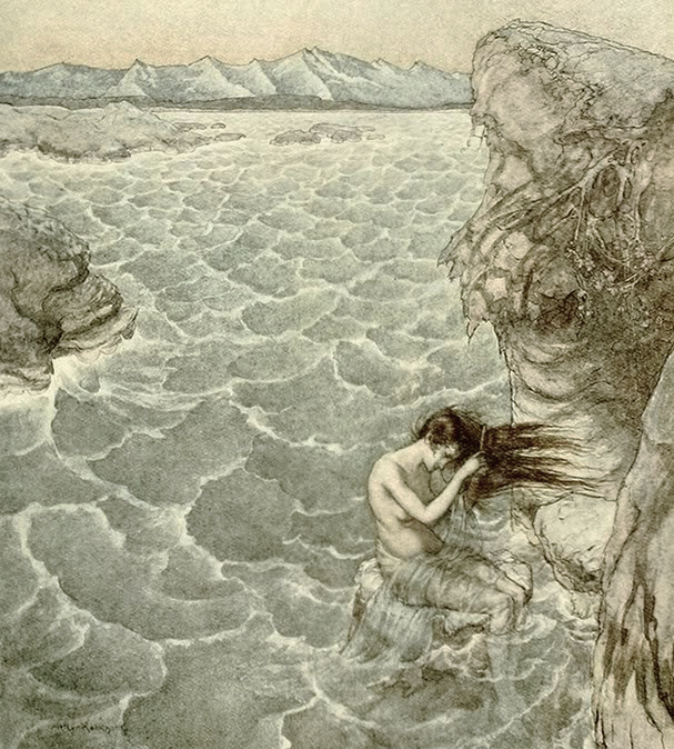 Mermaid by Arthur Rackham