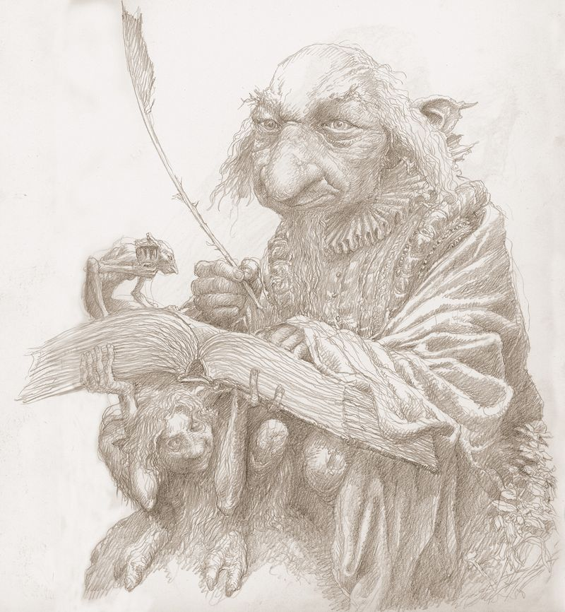 The Fairy Scribe by Alan Lee